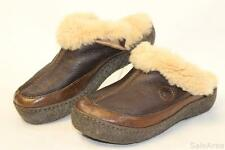 Born MISMATCH Womens 7 / 7.5 NEW Kyra Brown Leather Mules Comfort Shoes :rf
