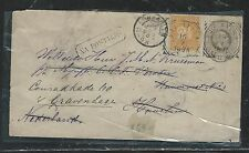 NETHERLAND INDIES (PP2806B) 1895 12 1/2C PSE UPRATED 2 1/2C TO NETHERLANDS