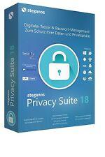 Privacy Suite 18  Daten schützen & Verschlüsseln  Steganos für 5 PC Box CD/DVD