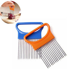 Onion Chopper Tomato Vegetable Slicer Cutting Guide Holder Slicing Cutter HOT