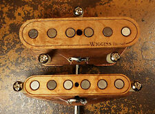 WIGGINS BRAND HAND WOUND TELECASTER STYLE SET MADE TO ORDER  PICKUP WOOD