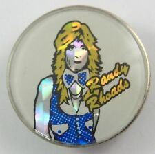 RANDY RHOADS'  vintage crystal prismatic enamel badge