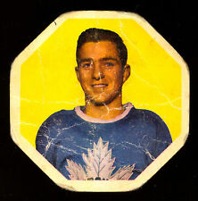 1961-62 YORK PEANUT BUTTER YELLOW BACKS #2 DICK DUFF VG TORONTO MAPLE LEAFS