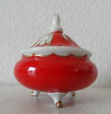Art Deco Porzellan Deckeldose Bonbonniere Unger & Schilde Roschütz  (A9)