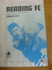 13/10/1973 Reading v Lincoln City  (Light Crease, Light Marks). Thanks for viewi