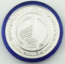 Fremont Hotel Limited Edition 50 Years Colorized $40 Casino Gaming Token, Silver