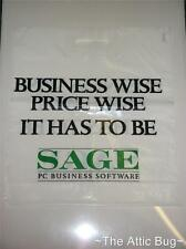 SAGE Business Software Promotional / Promo Plastic Carrier Bag