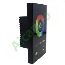 US Touch Panel LED Controller Dimmer Wall Switch For RGB LED Strip 12-24V DC 12A
