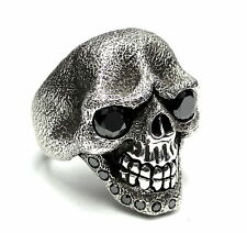 Sandnman Skull Ring With Black Diamonds 2.50 ct By Sacred Angels Limited Edition