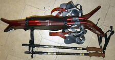 NWT MEN'S ATLAS 1230  BACKCOUNTRY SNOWSHOES SLS BINDINGS & CARBON FIBER POLES