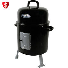 Charcoal Water Smoker Grill BBQ Barbecue Cooking Camping Backyard Outdoor Cooker