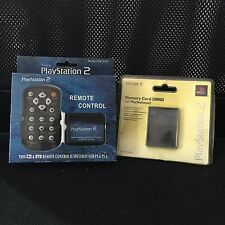 PlayStation 2 REMOTE CONTROL + MEMORY CARD SONY (8MB) BRAND NEW