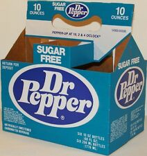 Vintage soda pop bottle carton DR PEPPER Sugar Free unused new old stock n-mint+