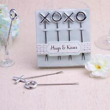 XO Design Stainless Fruit Forks Set Tasting Appetizer Forks Wedding Favors