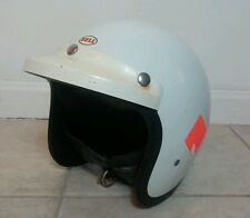 Vintage Early 60's Bell RT Toptex Helmet 7 1/4 Racing With Visor Long Beach Cal