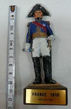 FIGURINE 1° EMPIRE 10 cm en plomb MARECHAL DE FRANCE 1810 sur socle en bois