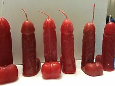 PENIS CANDLE  SCENTED PARAFFIN WAX  RED OR SELECT COLOR Molded & Sculpted