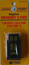 JOHNNY STEWART COYOTE CALLING VOLUME 5 PREYMASTER MEMORY CARD PM-3 & PM-4 NEW