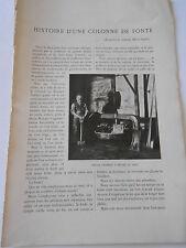 Histoire d'une colonne de Fonte 1903 Article de presse