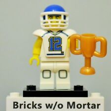 New Genuine LEGO Football Player Minifig with Trophy Series 8 8833