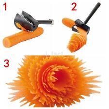 Practical Vegetable Cutter Peeler Spiral Volume Flower Slicer Carrot Curler New