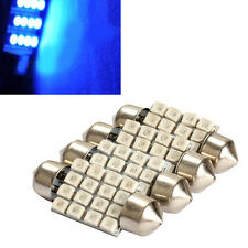 4x 36mm 16 3528-SMD Led Car Interior Festoon Dome Bulb Light Bright Blue d2m