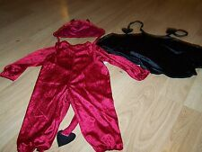 Infant Size 6-18 Months Charades Darling Devil 3 Piece Halloween Costume w Cape