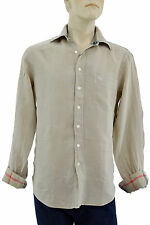 $275 BURBERRY London Trench LINEN Casual Dress Men's Shirt Size S NEW COLLECTION
