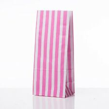candy stripe sweet bags long pink FOOD, GIFT, PARTY, SWEETS WEDDING 20 PIECES