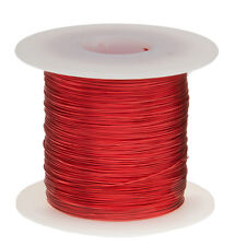 "24 AWG Gauge Enameled Copper Magnet Wire 1.0 lbs 803' Length 0.0211"" 155C Red"