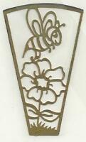 Brass Night Light Filigree BEE With Pattern Stained Glass Supplies