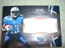 2012 Bowman Sterling Football - Kendall Wright Jumbo Rookie Relic