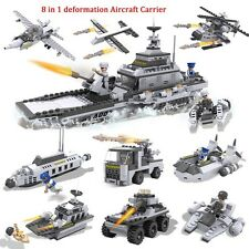 New COGO 8in1 Building Block Military Army Aircraft ship tanks submarines 747pcs