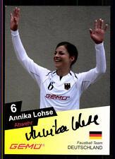 Annika Lohse Autogrammkarte Original Signiert Faustball + A 122334
