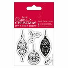 Do-Crafts Papermania Clear Stamps -  Christmas Baubles for Cards or Crafts