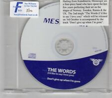 (GR471) Messenger, The Words (I'd Like To Say I Love You) - 2005 DJ CD