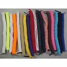 6 Pairs Curly Elastic Shoe Laces No-Tie Twisty Special - Indicate Your Colors