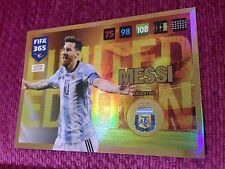 Panini Adrenalyn XL FIFA 365 2017 Limited Edition MESSI ARGENTINA RARE