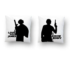 Personalized I love You I know Pillow Covers, Custom Star Wars Geeky Art Decor