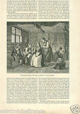 Costumes Robe Dress Fiancée Toilet Bride Norway Norvège GRAVURE OLD PRINT 1862