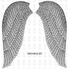 New Paper Parachute RUBBER STAMP angel wings set Free USA ship