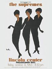 "Diana Ross and Supremes Lincoln 16"" x 12"" Photo Repro Concert Poster"