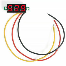 Red Mini DC 0-100V LED 3-Digital Diaplay 3 Wire Voltage Voltmeter Panel Meter  F