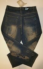 ENCYE Loose Straight Patched Distressed Cotton Denim Jeans Men Size 38 x 33