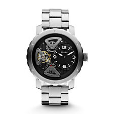 Fossil Men's Twist Automatic Watch  Silver with Black Face  ME1132
