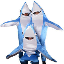 Animal Cute Whale Shark Mascot Costume Material Fancy Dress Adult Cosplay Blue