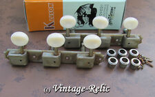 aged Kluson nickel tuners RELIC'D 3 plate fit Gibson Les Paul Jr WD90NPP 3L/3R