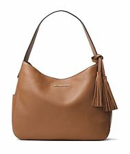 NWT MICHAEL MICHAEL KORS  Ashbury Large Leather Shoulder Bag in Acorn $228
