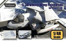 Wolfpack 1:48 S-3 Viking Wing Folded Set for Italeri - Resin Detail #WP48131