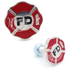 2 3D Metal Logo License Plate Frame Fastener Tag Bolt Screws - FIREFIGHTER DEPT